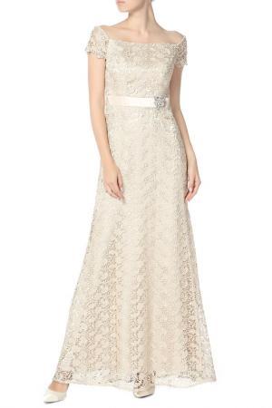 Платье JS Collections. Цвет: бежевый