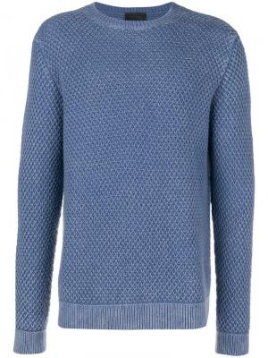 Waffle knit sweater Iris Von Arnim. Цвет: синий
