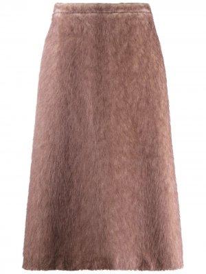 Юбка A-силуэта Rochas. Цвет: коричневый