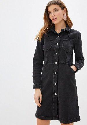 Платье джинсовое Gap. Цвет: черный