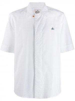 Рубашка с вышитым логотипом Vivienne Westwood. Цвет: белый
