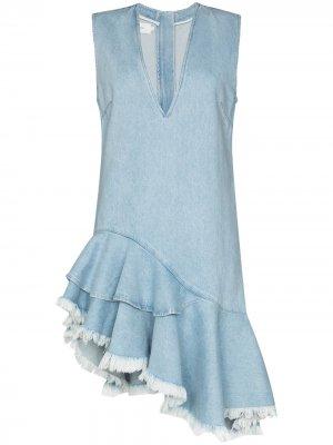 MarquesAlmeida джинсовое платье асимметричного кроя Marques'Almeida. Цвет: синий