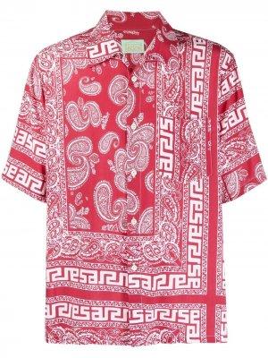 Рубашка с принтом Aries. Цвет: красный