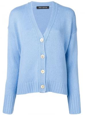V-neck cardigan Iris Von Arnim. Цвет: синий