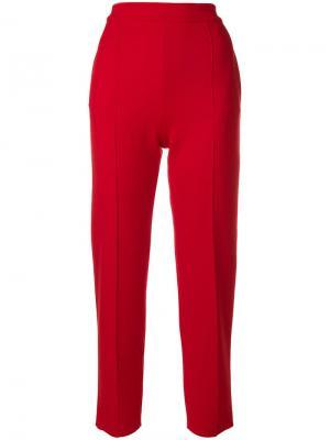 Классические брюки кроя слим Sonia Rykiel. Цвет: красный