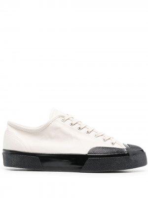Кеды с контрастным носком Superga. Цвет: белый