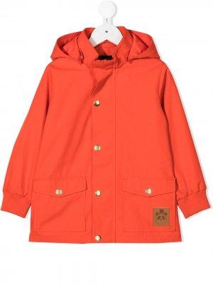 Пальто с нашивкой Mini Rodini. Цвет: красный