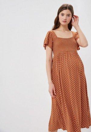 Платье Dorothy Perkins Maternity. Цвет: коричневый