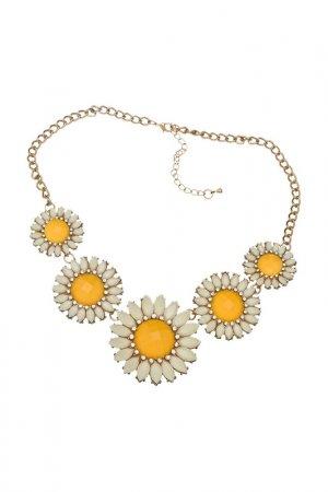Ожерелье Ромашки Victoria Le Land. Цвет: желтый