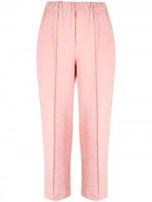 Укороченные брюки со швами Issey Miyake. Цвет: розовый