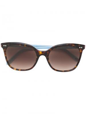 Большие солнцезащитные очки кошачий глаз Tiffany & Co.. Цвет: коричневый