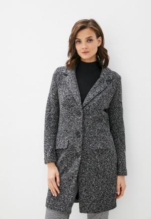 Пальто Jacqueline de Yong. Цвет: серый