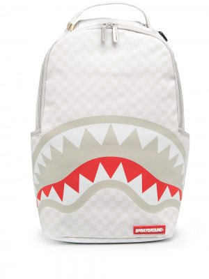 Рюкзак с принтом Sprayground. Цвет: белый