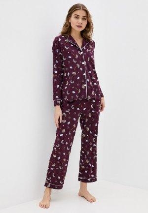 Пижама Winzor. Цвет: бордовый