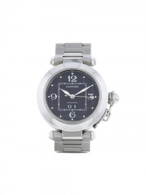 Наручные часы Pasha pre-owned 35 мм 1990-х годов Cartier. Цвет: черный