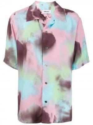 Рубашка с принтом тай-дай AMBUSH. Цвет: розовый