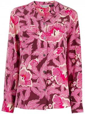 Рубашка с цветочным принтом Equipment. Цвет: розовый