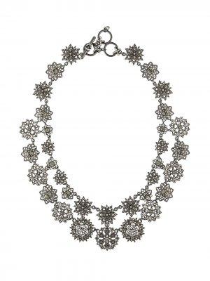 Ожерелье с кристаллами Marchesa Notte. Цвет: черный