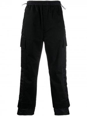 Спортивные брюки с атласными полосками MCM. Цвет: черный