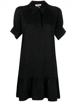 Жаккардовое платье с анималистичным принтом Baum Und Pferdgarten. Цвет: черный