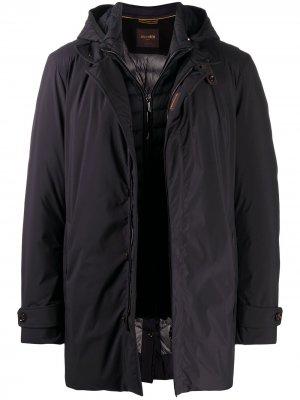 Куртка на молнии с подкладкой Moorer. Цвет: черный
