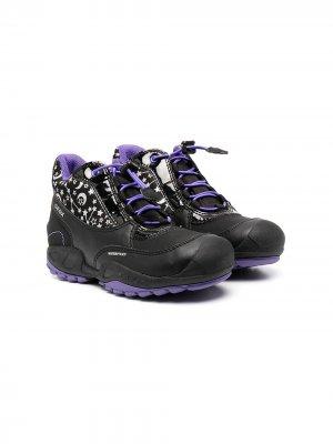 Ботинки с принтом Geox Kids. Цвет: черный