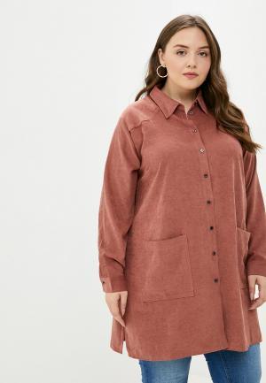 Рубашка Only Carmakoma. Цвет: коричневый