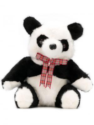 Bow ribbon Panda toy Liska. Цвет: белый