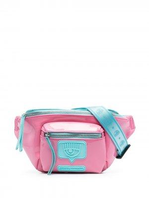 Поясная сумка с нашивкой-логотипом Chiara Ferragni. Цвет: розовый