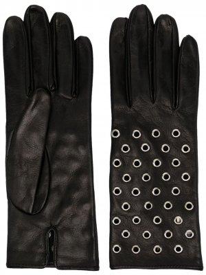 Перчатки с люверсами Manokhi. Цвет: черный