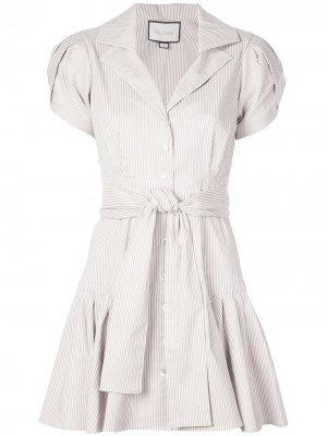 Платье-рубашка Haylee в полоску Alexis. Цвет: коричневый