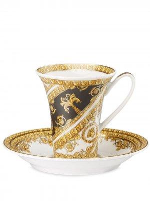 Кофейная кружка I Love Baroque Versace Home. Цвет: белый