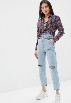 Комбинезон джинсовый Pink Frost. Цвет: голубой