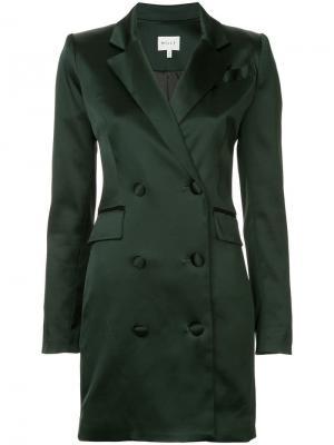 Платье мини в стиле блейзера Milly. Цвет: зеленый