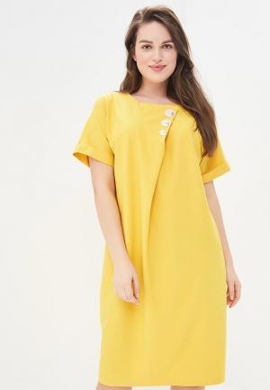 Платье Aelite. Цвет: желтый