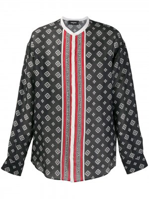 Рубашка без воротника с принтом Dsquared2. Цвет: синий