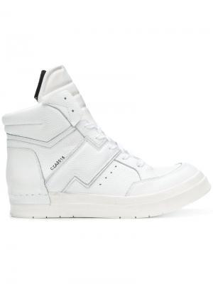 Skin 975 hi-top sneakers Cinzia Araia. Цвет: белый