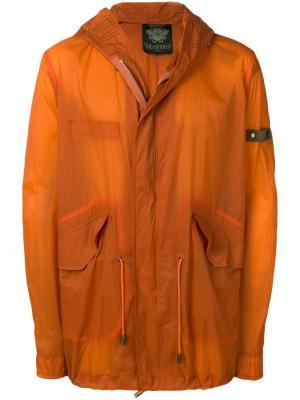 Куртка-дождевик с капюшоном Mr & Mrs Italy. Цвет: оранжевый