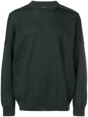 Джемпер с круглым вырезом S.N.S. Herning. Цвет: зеленый