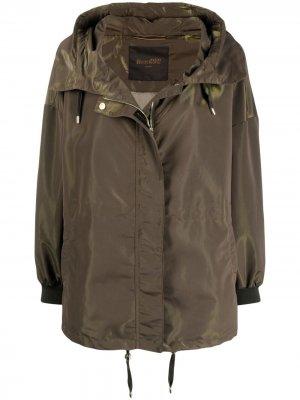 Куртка на молнии с капюшоном Moorer. Цвет: зеленый