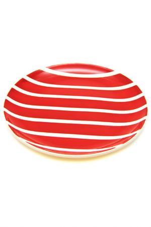 Тарелка большая UNION. Цвет: красный