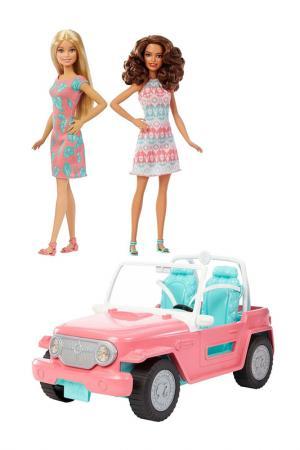 Внедорожник с куклами Барби Barbie. Цвет: оранжевый