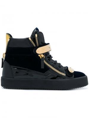 Кроссовки с застежкой на липучки Cody Giuseppe Zanotti. Цвет: черный