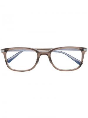 Square shaped glasses Brioni. Цвет: коричневый