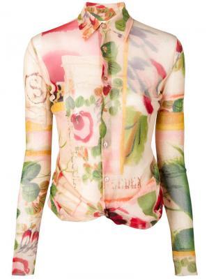 Рубашка с цветочным принтом Jean Paul Gaultier Vintage. Цвет: нейтральные цвета