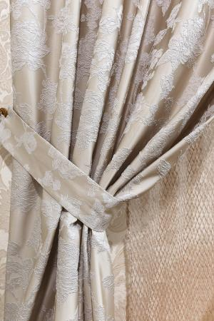 Штора Мерида, 200х280 Daily by T. Цвет: светло-серый