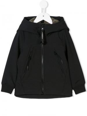 Zipped hooded jacket Cp Company Kids. Цвет: черный