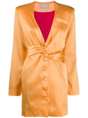 Платье с драпировкой Materiel. Цвет: оранжевый