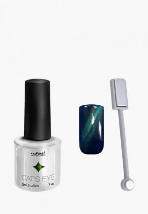 Набор для ухода за ногтями Runail Professional. Цвет: бирюзовый