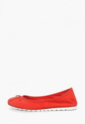 Балетки Marco Tozzi. Цвет: красный